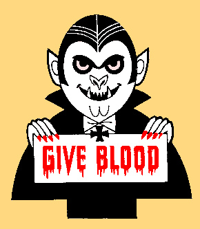 vampire give blood
